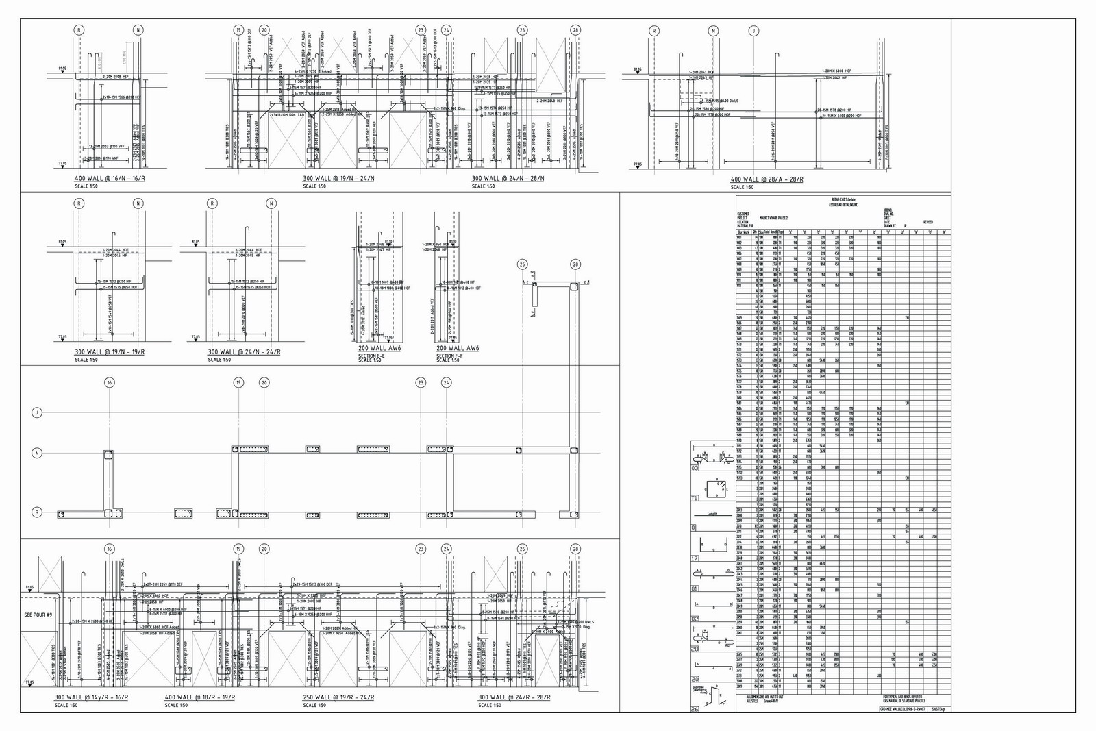 Sample Drawing 3 - ASQ Rebar Detailing Inc